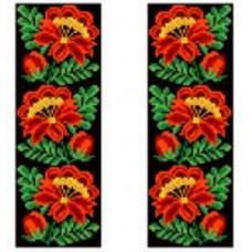 K308 Червоний букет (20х30 см). Confetti. Водорозчинний флізелін з малюнком
