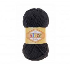 60 Пряжа Softy 50гр - 115м (Чорний) Alize