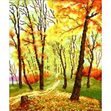 706 Золота осінь. Світ Можливостей. Канва з нанесеним малюнком