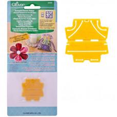8490 Заготовка для квітки Канзаші, закруглений пелюстка (виріб 35 мм). Clover. Японія