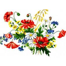 858 Польові квіти. Світ Можливостей. Канва з нанесеним малюнком