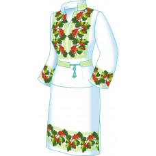 F2600 Калина. Діана Плюс. Схема викрійка для вишивання жіночого костюма