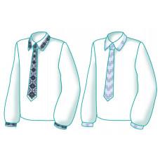 F2609 Вишиванка з краваткою. Діана Плюс. Схема викрійка для вишивання чоловічої сорочки з краваткою