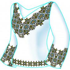 F2604 Карпати. Діана Плюс. Схема викрійка для вишивання жіночої сорочки