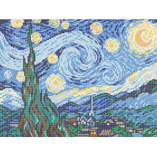 A583 Зоряна ніч. Ангеліка. Схема на тканині для вишивання бісером