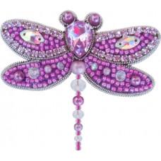 АБН-029 Брошка Бабка (фіолетова). А-строчка. Набір для вишивки бісером