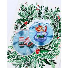 ABT-013 Новорічна іграшка Маленький сюрприз. Абрис Арт. Набір для вишивки бісером (ABT-013)