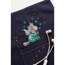 AHO-004 В піжамі. Абрис Арт. Набір для вишивання хрестиком на водорозчинній канві (АНО-004)