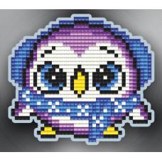 АТМ26 Магніт. Пінгвін фіолетовий . ArtSolo. Набір алмазного живопису