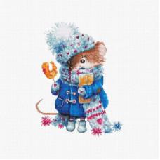 B1168 Різдвяна миша. Luca-S. Набір для вишивки хрестиком