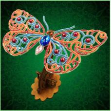 BGP-088 3d Ажурна метелик. Натхнення. Набір для вишивки бісером на прозорій основі