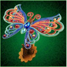 BGP-089 3d Ажурна метелик. Натхнення. Набір для вишивки бісером на прозорій основі