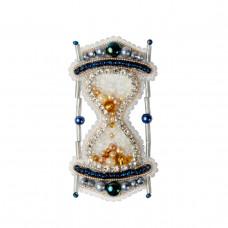 БП-306 Брошка Пісочний годинник. Crystal Art. Набір для вишивки бісером