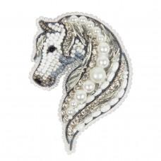 БП-327 Брошка Кінь. Crystal Art. Набір для вишивки бісером
