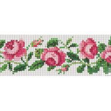Д-001 Чайні троянди. Стрічка. Тела Артіс. Схема для вишивання бісером