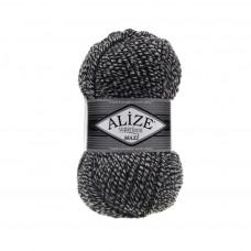 DUE601 Пряжа SuperLana Maxi 100гр - 100м (Чорно-білий) Alize
