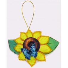 F023 Соняшник. Butterfly. Набір з фетру