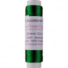 FLT-016 Нитка для вишивання бісером (зелений). Волшебная страна