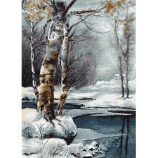 G560 Зима. Luca-S. Набір для вишивання нитками (гобелен)