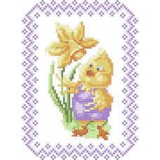ХВД-21р Дитячий великодній рушник (габардин). Княгиня Ольга. Схема для вишивання бісером