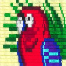I-016 Папуга. Stitch me. Набір для вишивання вертикальним стібком