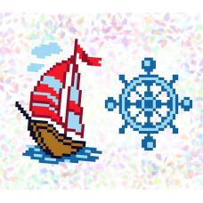K108 Морське пригода (10х15 см). Confetti. Водорозчинний флізелін з малюнком