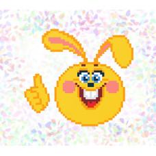 K112 Веселий заєць (10х15 см). Confetti. Водорозчинний флізелін з малюнком