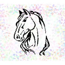 K320 Кінь (20х30 см). Confetti. Водорозчинний флізелін з малюнком