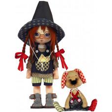 К1077 Дівчинка з собачкою. ZooSapiens. Набір для шиття іграшки
