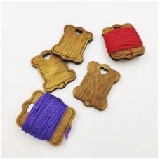 KD01_20. Котушки дерев`яні для муліне. 20 штук. Натхнення