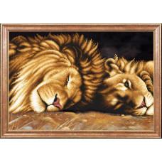 КС-091 Леви відпочивають. Магія канви. Схема на тканині для вишивання бісером