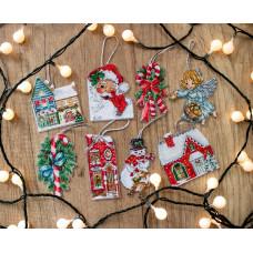 L8002 Набір різдвяних іграшок. Letistitch. Набір для вишивки хрестом