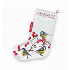 LETI 949 Blue tits Різдвяний чобіток. Letistitch. Набір для вишивки хрестом