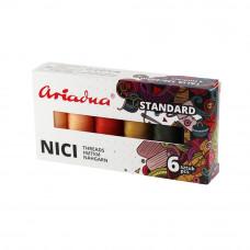 Набір ниток Ariadna Talia 120 Standart Autumn 6 шт, 200 м, Польща