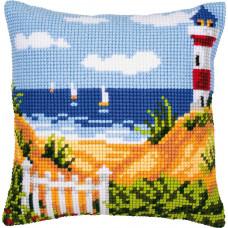 PN-0008731 Seascape (Морський пейзаж). Подушка. Vervaco. Набір для вишивки хрестом