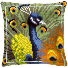 PN-0145700 Proud peacock Павлін. Подушка. Vervaco. Набір для вишивки хрестом