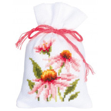 PN-0150042 Мішечки Рожеві квіти. Vervaco. Набір для вишивки хрестом
