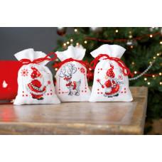 PN-0150688 Різдвяні гномики. Мішечки для саші. Набір для вишивки нитками. Vervaco