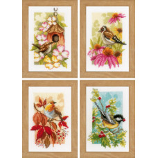 PN-0153564 Пташки (4 сезони). Vervaco. Набір для вишивки хрестом