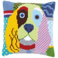 PN-0156109 Сучасна собака. Подушка. Vervaco. Набір для вишивки хрестом