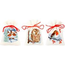 PN-0156823 Winter Bags. Мішечки. Vervaco. Набір для вишивки хрестом