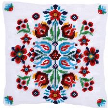 PN-0168199 Folklore. Гобеленова подушка. Набір для вишивки нитками. Vervaco