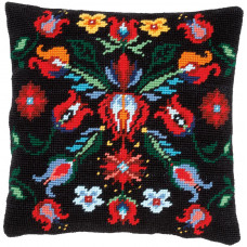 PN-0168334 Folklore. Гобеленова подушка. Набір для вишивки нитками. Vervaco