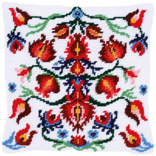 PN-0168442 Folklore. Гобеленова подушка. Набір для вишивки нитками. Vervaco