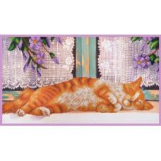 Р-351 Рудий кіт. Картини бісером. Набір для вишивки бісером