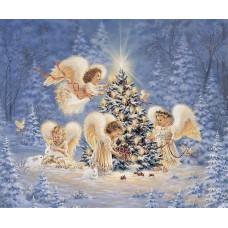 РТ150089 Різдвяні ангели. Папертоль. Набір картини з паперу