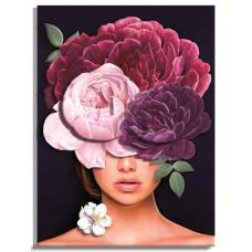 РТ150296 Дівчата-квіти. Загадка. Папертоль. Набір картини з паперу