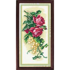s56 Троянди і виноград. Чарівниця. Канва з нанесеним малюнком