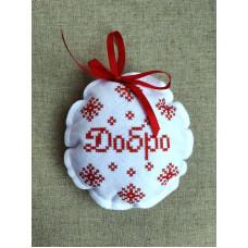 ШНФ-036 Пошита новорічна іграшка. Княгиня Ольга. Схема на тканині для вишивання бісером