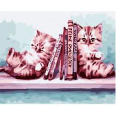 TCR3210 Книжкові котенята. Colorum. Набір для малювання картини за номерами*